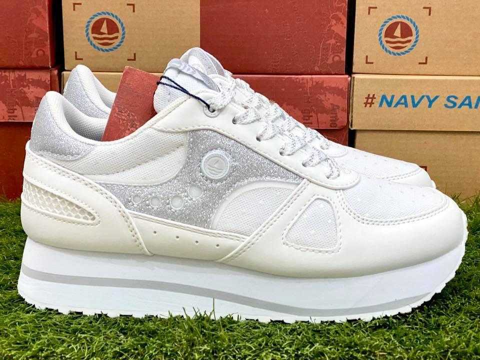 scarpe navy sail donna bianche