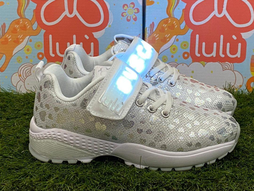 scarpe lulù bambina led bianca
