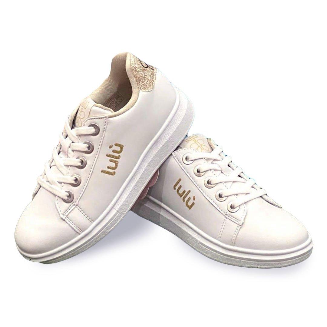 scarpe lulù bambina dorata e bianca