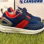 scarpe canguro bambino blu e rosso
