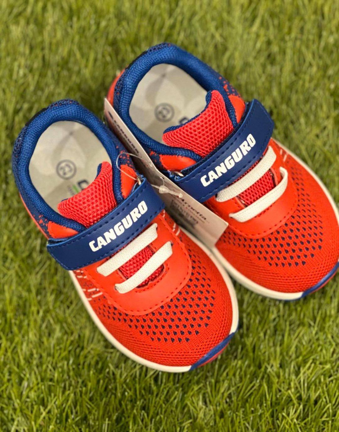 scarpe canguro bambino rosso e blu