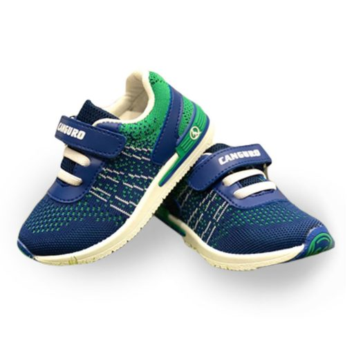 scarpe canguro bambino blu e verde