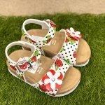made in italy sandaletto bambina bianchi fiori