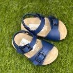 Sandaletti Bimbo blu made in italy
