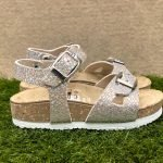 Sandaletti bambina beige made in italy