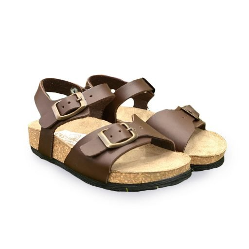made in italy sandaletto bambino marrone scuro