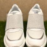 QUEEN HELENA scarpe donna bianche strappo 4