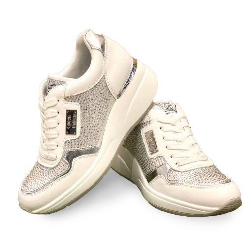 QUEEN HELENA scarpe donna bianche
