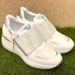 QUEEN HELENA scarpe donna bianche strappo 6