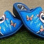 Pantofola gufo blu 4