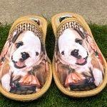Pantofola cane beige 8