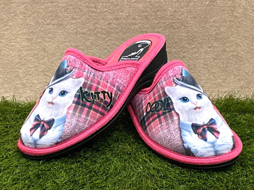 Pantofola gatto fuxia 2