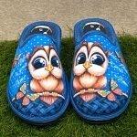 Pantofola gufo blu 6