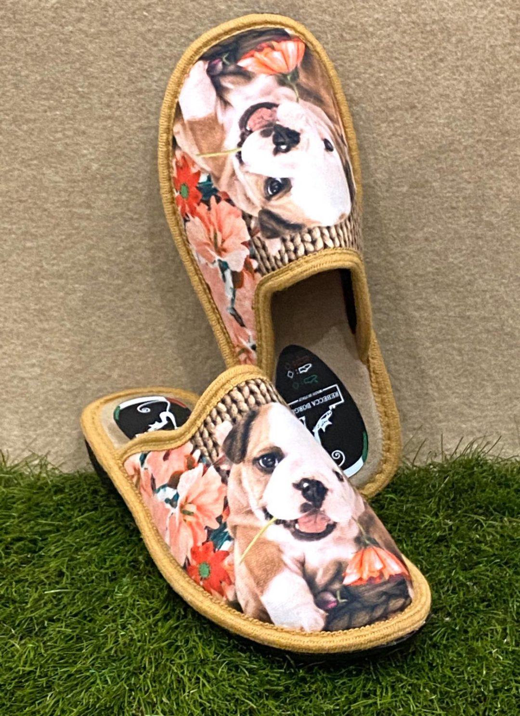 Pantofola cane beige 2