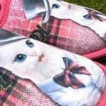 Pantofola gatto fuxia 8