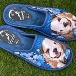 Pantofola cane blu 10