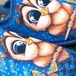 Pantofola gufo blu 10