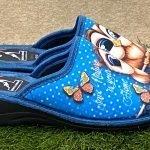 Pantofola gufo blu 12