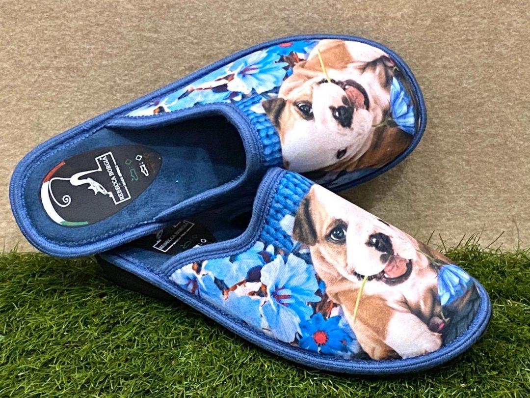 Pantofola cane blu 2