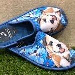 Pantofola cane blu 4