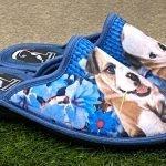 Pantofola cane blu 12