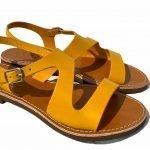 Deran 1888 cuoietto salentino sandalo giallo 4