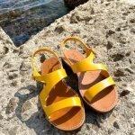 Deran 1888 cuoietto salentino sandalo giallo 12